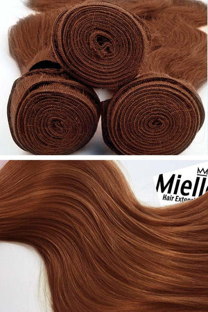 Amber Red Weave - Silky Straight - Remy Human Hair