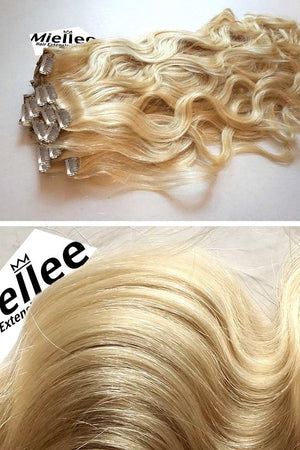 Butter Blonde Clip Ins - Beach Wave - Remy Human Hair