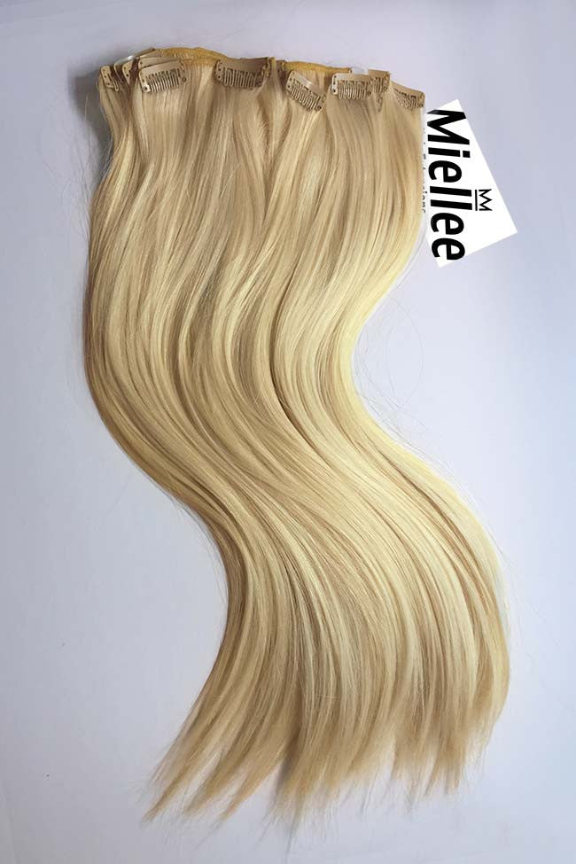 Butter Blonde 8 Piece Clip Ins - Straight Hair