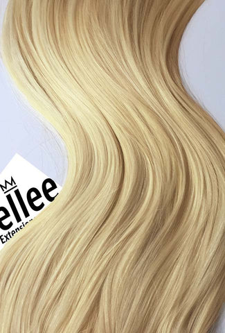 Butter Blonde Seamless Tape Ins | Silky Straight Remy Human Hair