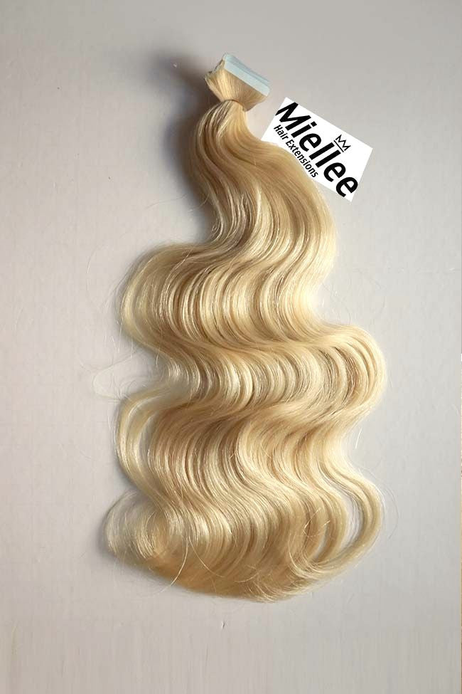 Butter Blonde Tape Ins - Beach Wave - Remy Human Hair