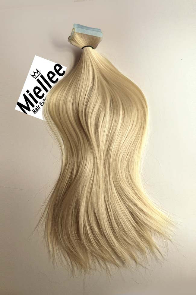 Tape In Hair Extensions Butter Blonde 613 Silky Straight