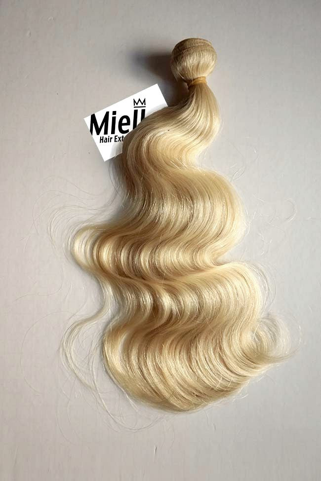 Butter Blonde Weave - Beach Wave - Remy Human Hair
