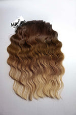 Light Golden Brown Balayage 8 Piece Clip Ins - Wavy Hair
