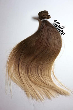 Light Golden Brown Balayage Wefts - Straight Hair