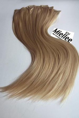 Butterscotch Blonde Clip Ins - Silky Straight - Remy Human Hair
