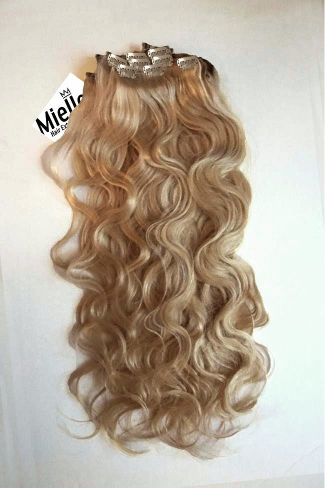 Butterscotch Blonde Full Head Clip Ins | Beach Wave Remy Human Hair