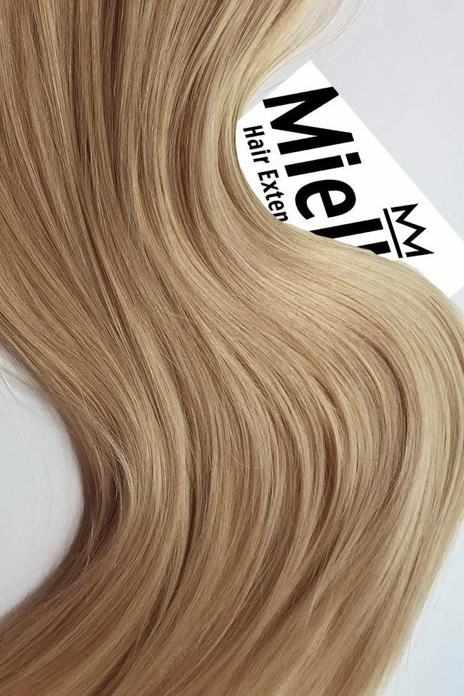 Butterscotch Blonde Machine Tied Wefts - Wavy Hair