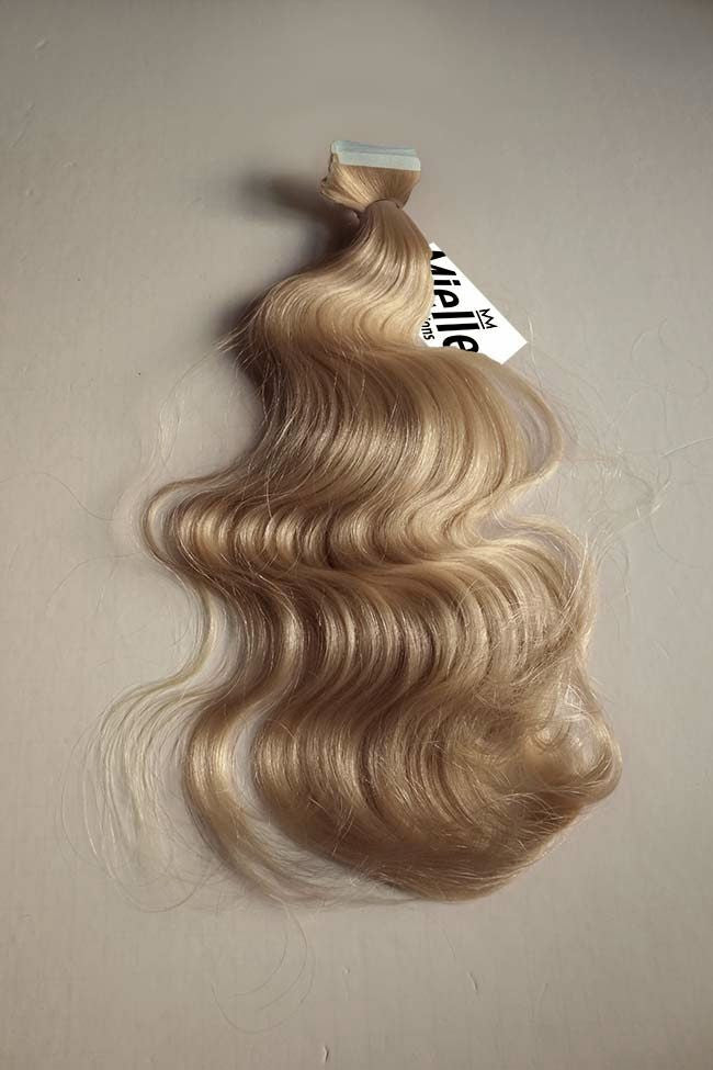 Butterscotch Blonde Seamless Tape Ins | Beach Wave Remy Human Hair