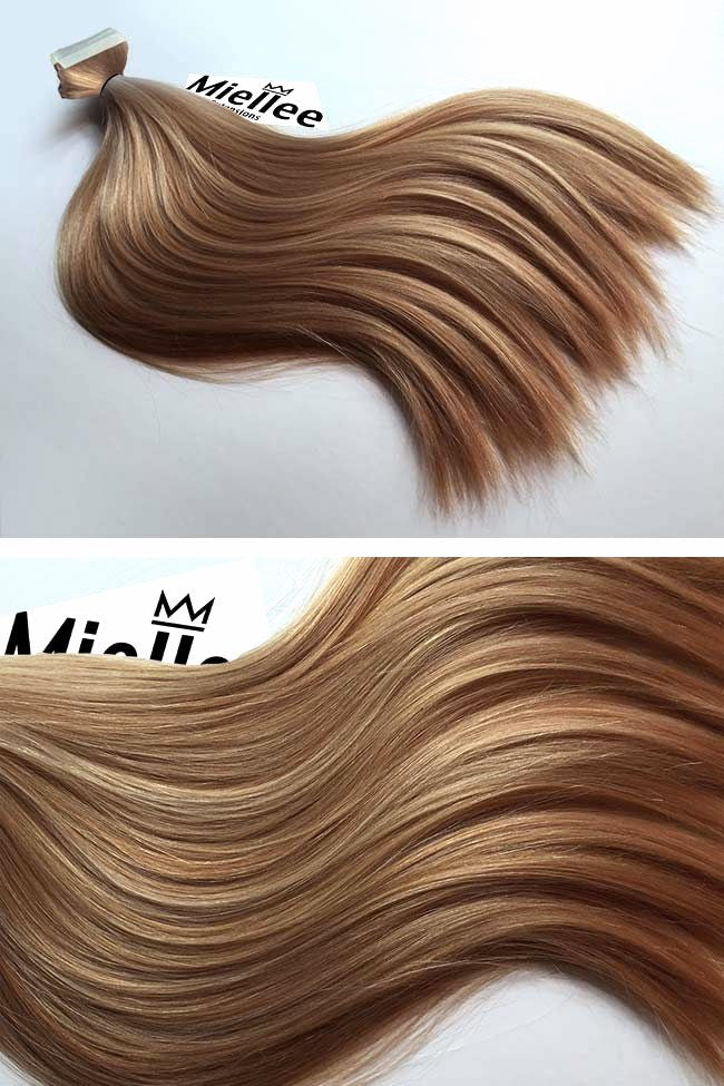 Caramel Blonde Seamless Tape Ins | Silky Straight Remy Human Hair