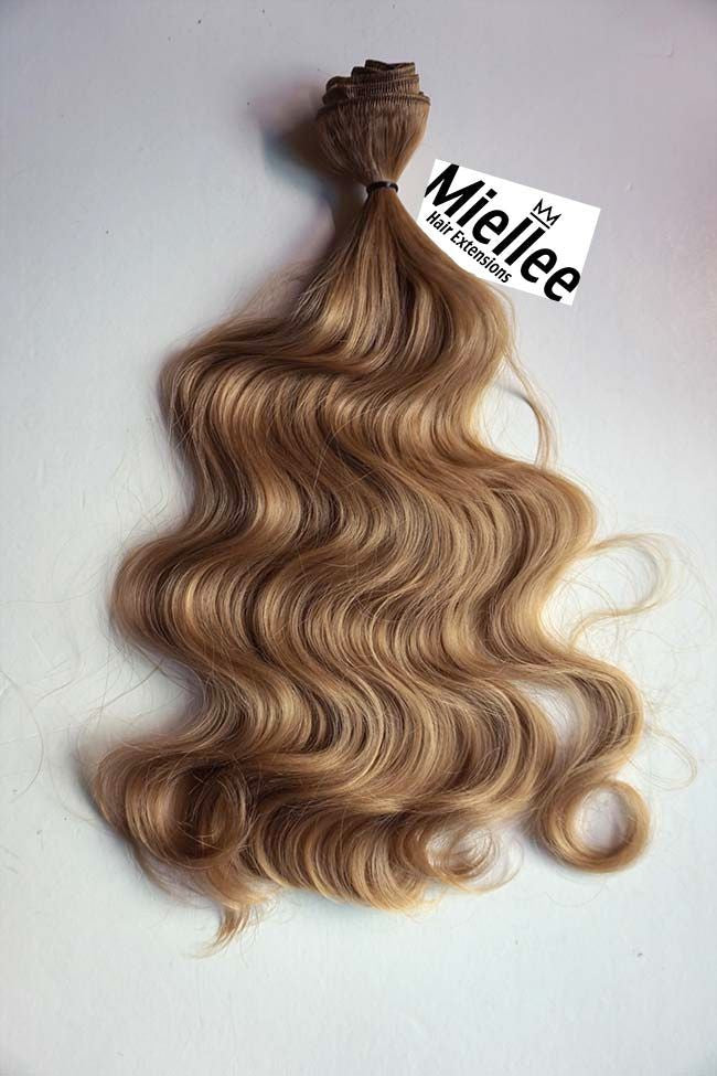 Weaving Hair Extensions Caramel Blonde Beach Wave Miellee Hair