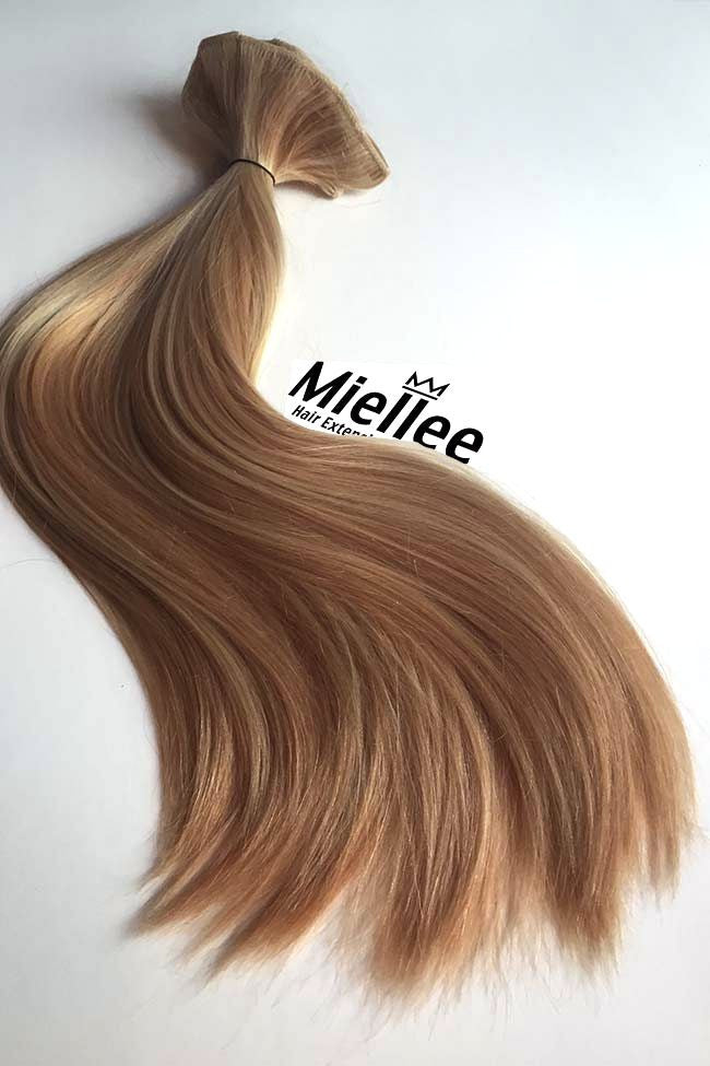 Weaving Hair Caramel Blonde Russian Silky Straight Miellee
