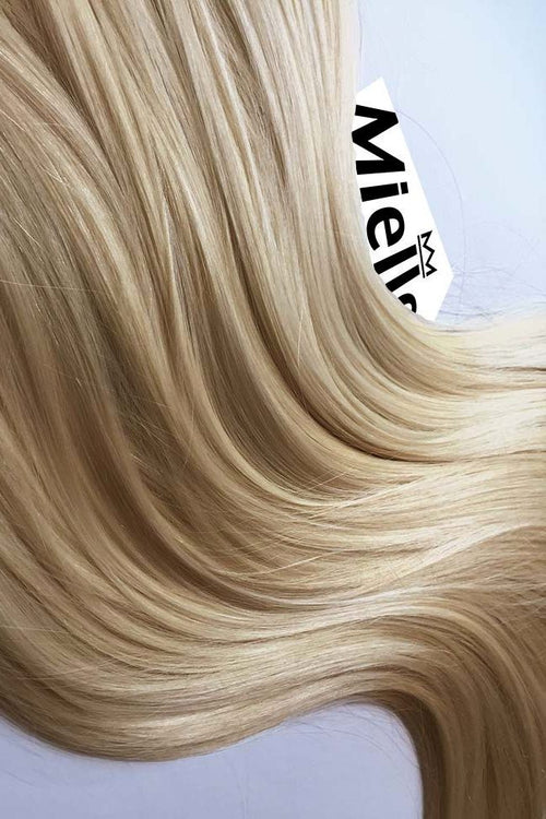 Champagne Blonde Machine Tied Wefts - Wavy Hair
