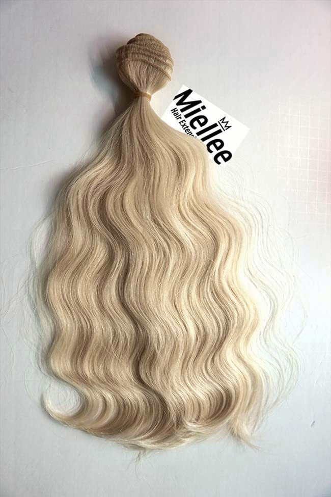 Champagne Blonde Weave - Beach Wave - Remy Human Hair