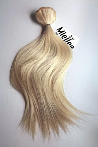 Medium golden champagne blonde hair extensions miellee hair champagne blonde weave extensions silky straight remy human hair pmusecretfo Images
