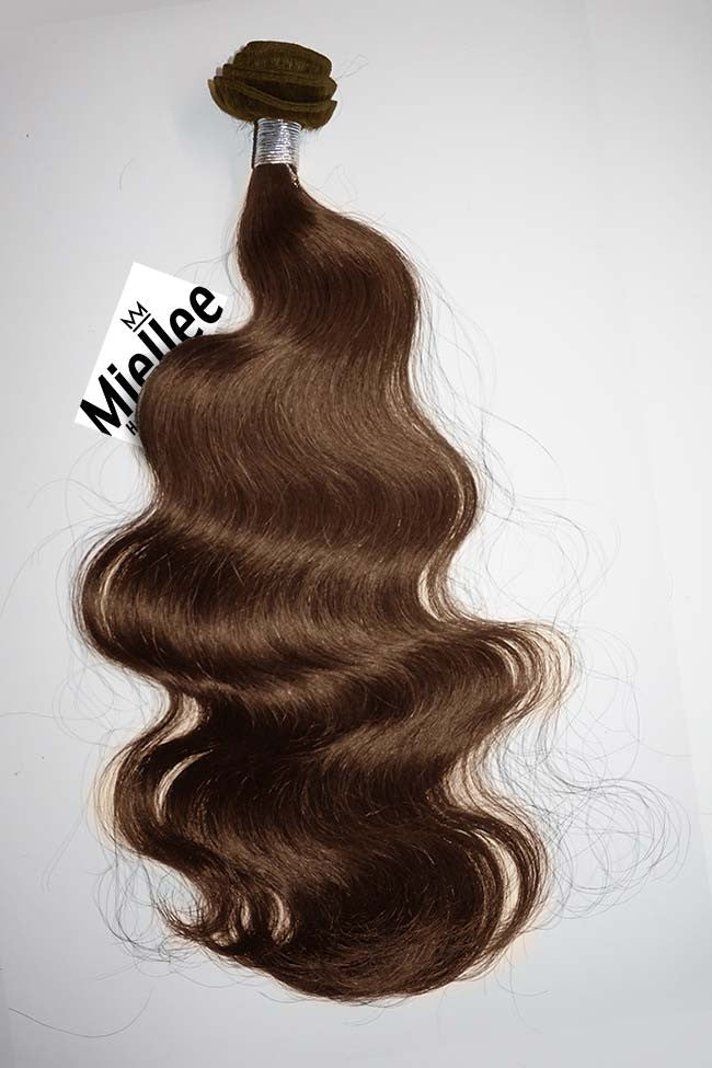 Chestnut Brown Weave - Beach Wave - Remy Human Hair
