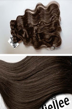 Chocolate Brown 8 Piece Clip Ins - Wavy Hair