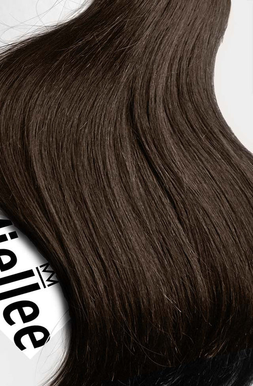 Chocolate Brown Machine Tied Wefts - Wavy Hair