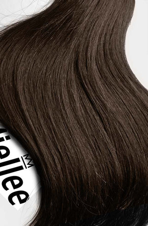 Chocolate Brown Tape Ins - Silky Straight - Remy Human Hair