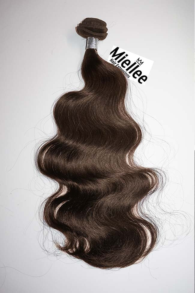 Chocolate Brown Weave Extensions | Beach Wave Remy Human Hair