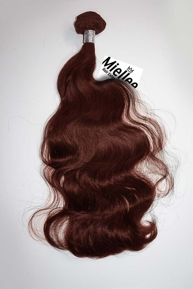 Cinnamon Red Weave Extensions | Beach Wave Remy Human Hair