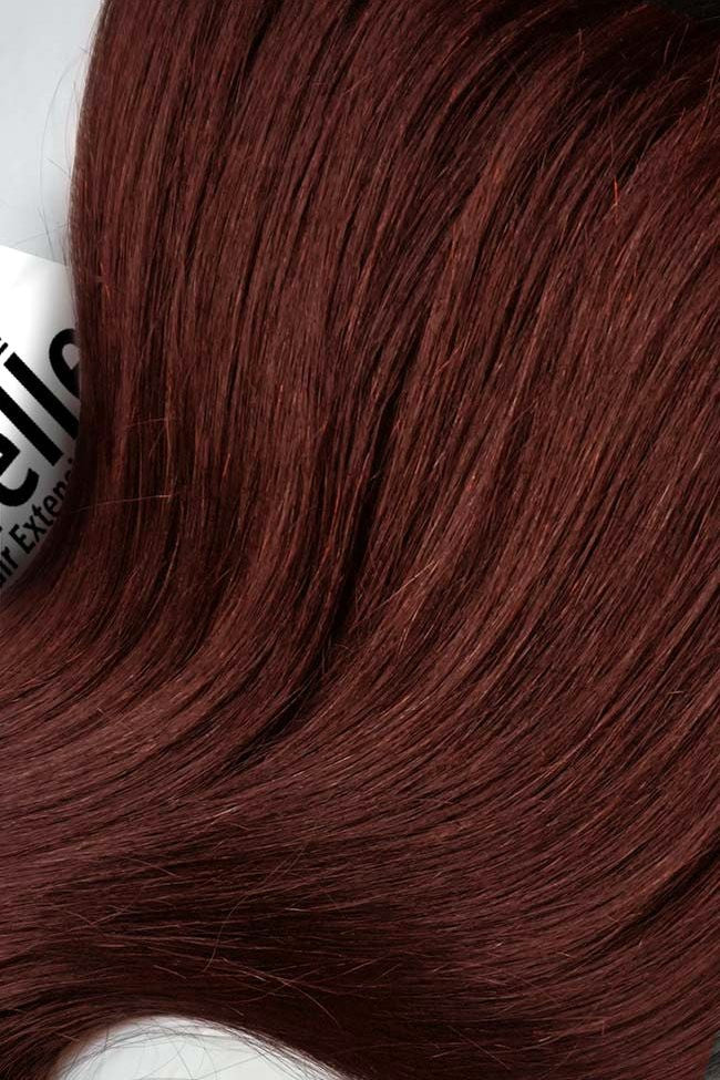 Cinnamon Red Full Head Clip Ins | Silky Straight Remy Human Hair