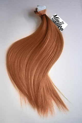 High Contrast Gold Ombre Seamless Tape Ins | Silky Straight Remy Human Hair