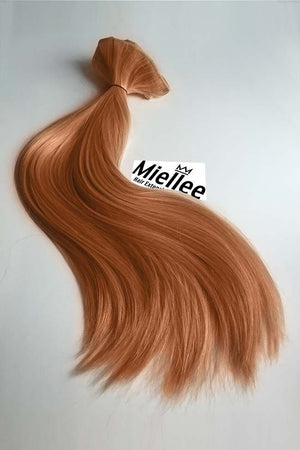 Peachy Red Wefts - Straight Hair