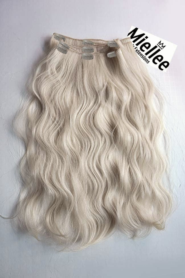 Cream Blonde Clip Ins - Beach Wave - Remy Human Hair