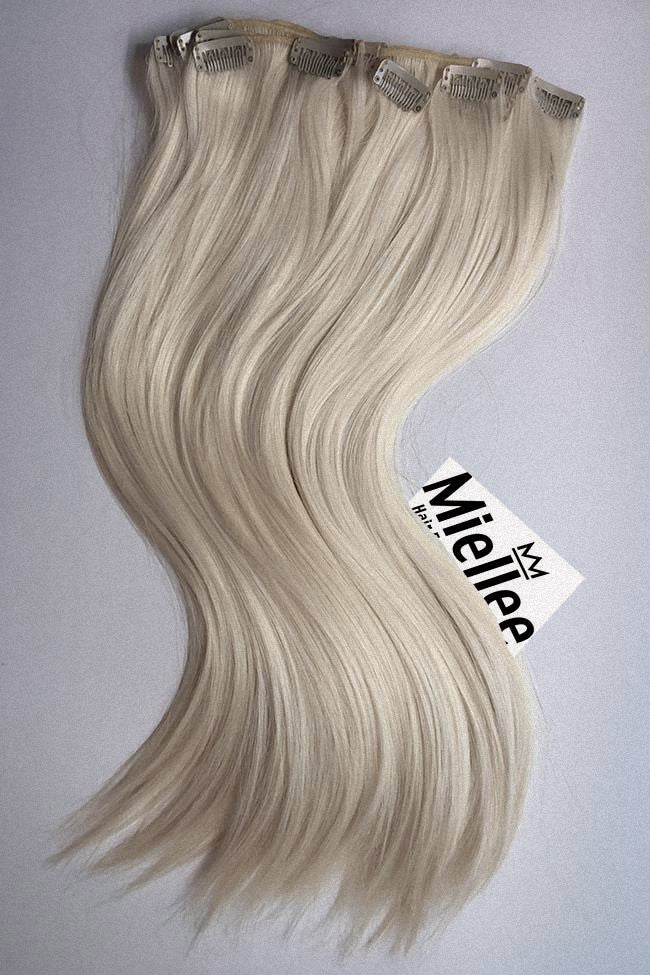 Cream Blonde Clip Ins - Silky Straight - Remy Human Hair