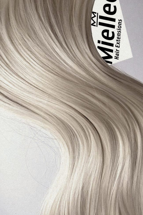 Cream Blonde Machine Tied Wefts - Wavy Hair