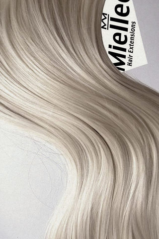 Cream Blonde Seamless Tape Ins | Beach Wave Remy Human Hair