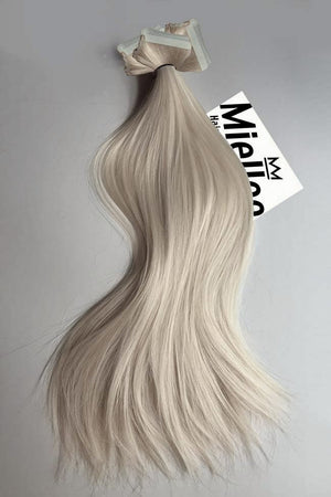 Cream Blonde Tape Ins - Silky Straight - Remy Human Hair