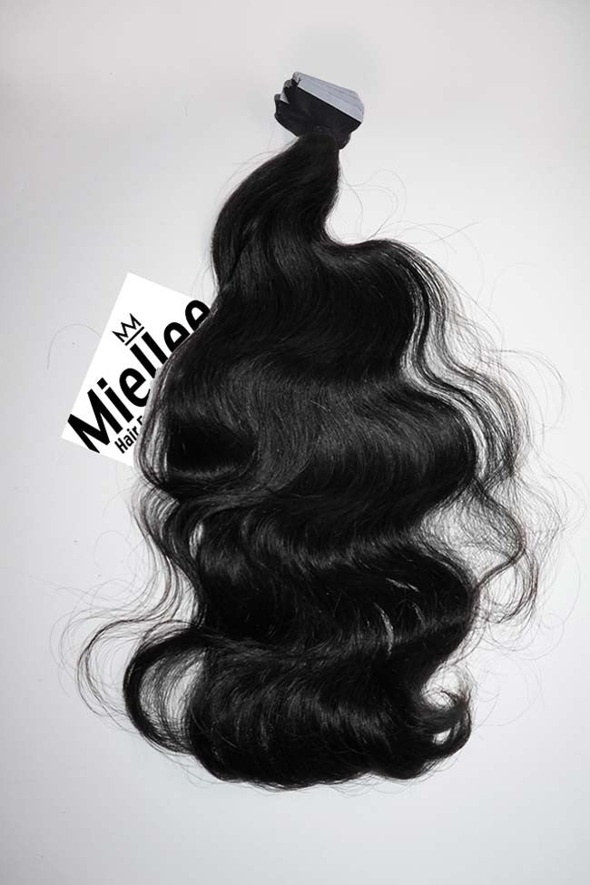 Espresso Black Tape Ins - Wavy Hair