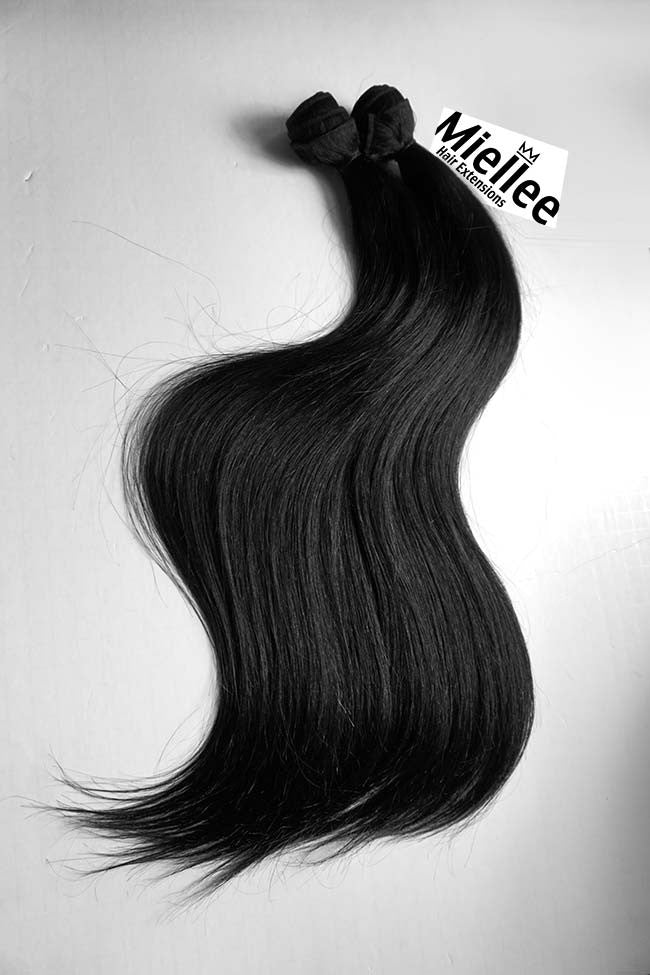 Espresso Black Weave Extensions | Silky Straight Remy Human Hair