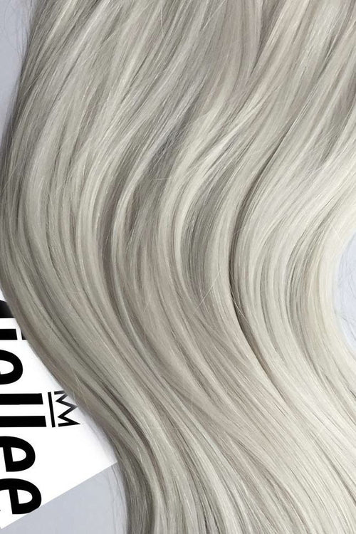 Frosty Blonde Machine Tied Wefts - Wavy Hair