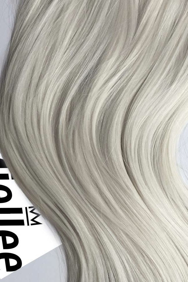 Clip In Extensions Frosty Ash Blonde Silky Straight