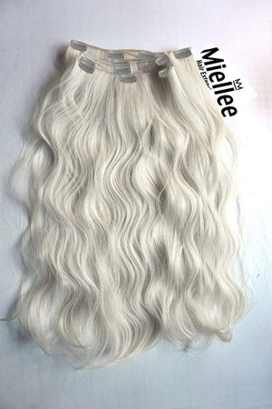 Frosty Blonde Clip Ins - Wavy Hair