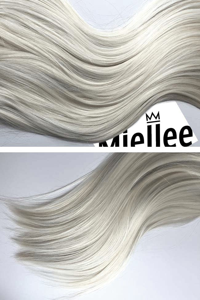 Frosty Blonde Weave Extensions | Silky Straight Remy Human Hair