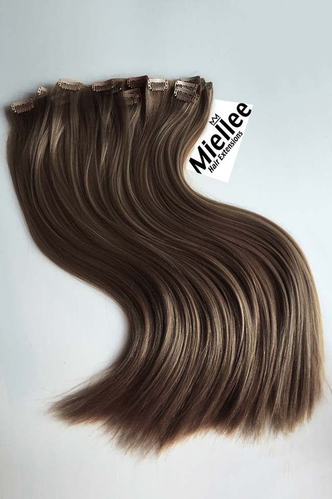 Hazelnut Brown Full Head Clip Ins | Silky Straight Remy Human Hair