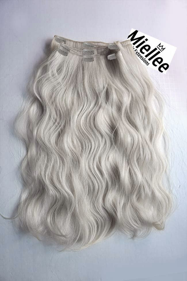 Icy Blonde Full Head Clip Ins | Beach Wave Remy Human Hair