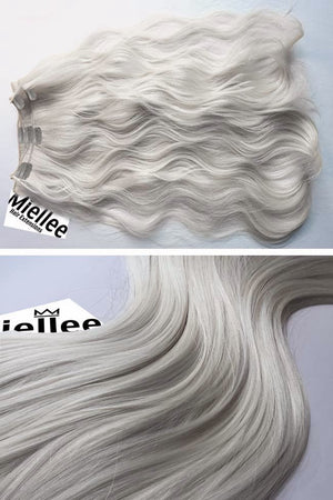 Icy Blonde Clip Ins - Beach Wave - Remy Human Hair