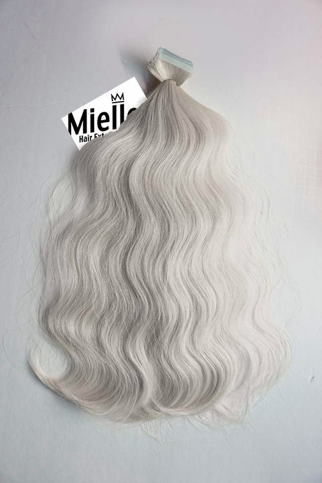 Icy Blonde Seamless Tape Ins | Beach Wave Remy Human Hair