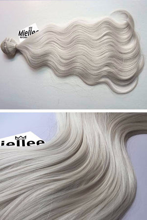 Icy Blonde Weave - Beach Wave - Remy Human Hair
