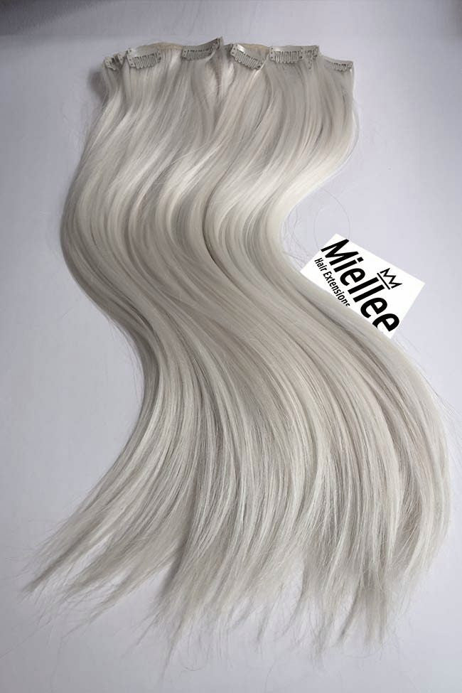 Clip in extensions icy ash blonde silky straight miellee icy blonde full head clip ins silky straight remy human hair pmusecretfo Images