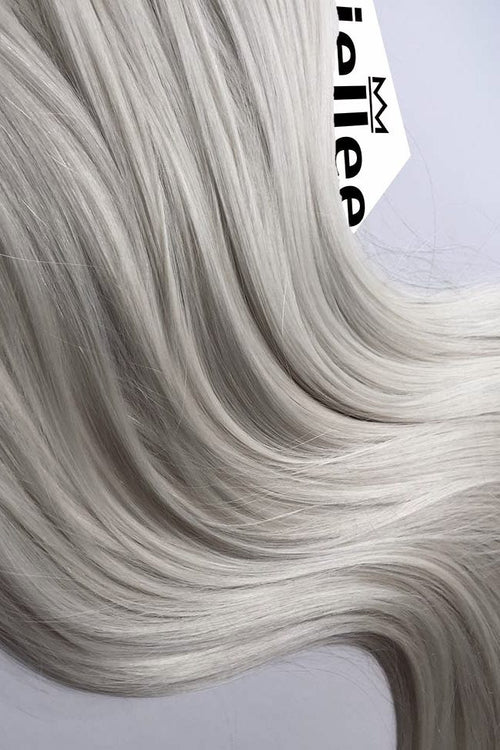 Icy Blonde Seamless Tape Ins - Wavy Hair