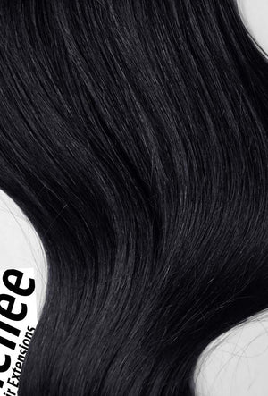 Licorice Black Weave - Silky Straight - Remy Human Hair