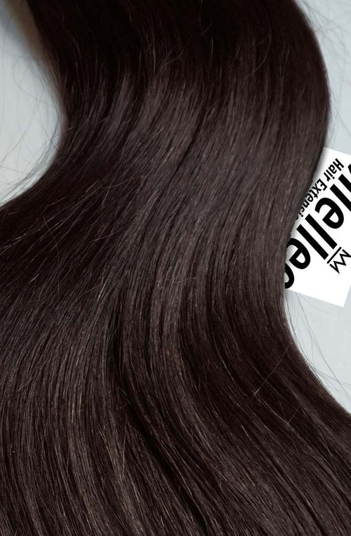 Mocha Brown Machine Tied Wefts - Straight Hair