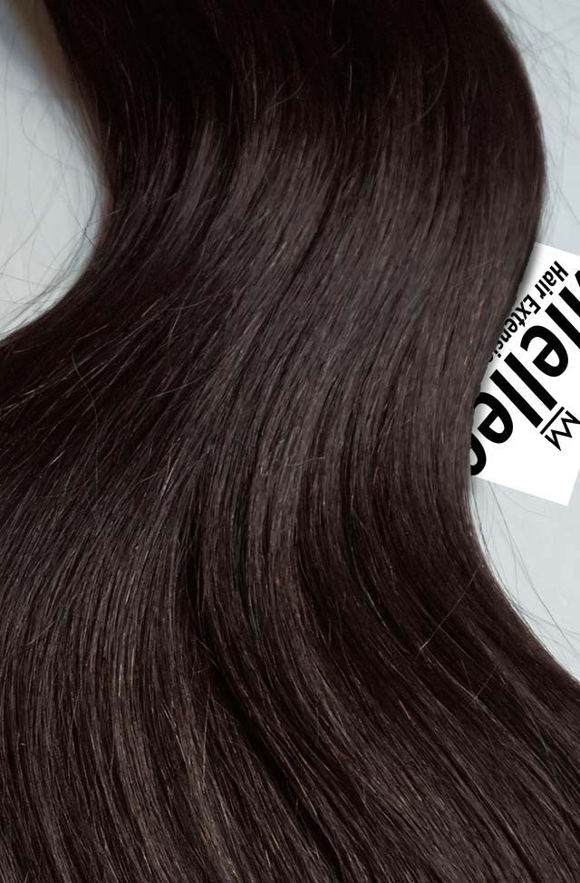 Mocha Brown Seamless Tape Ins | Silky Straight Remy Human Hair