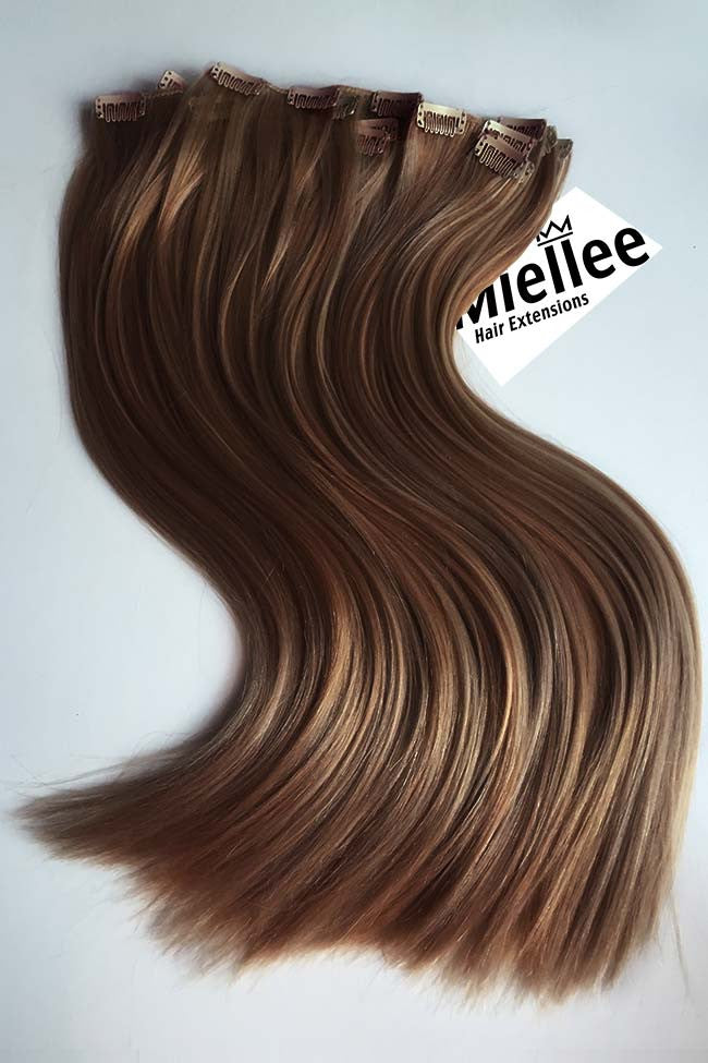 Maple Brown 8 Piece Clip Ins - Straight Hair